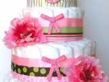 Hula Girl Diaper Cake